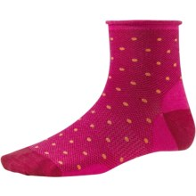 SmartWool Mesh Mini Dot Socks - Merino Wool, Ankle (For Women) in Bright Pink - 2nds