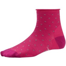 SmartWool Mesh Mini Dot Socks - Merino Wool, Ankle (For Women) in Punch - 2nds