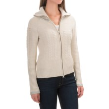 SmartWool Metallic Ski Town Sweater - Merino Wool, Zip Front (For Women) in Natural Heather - Closeouts