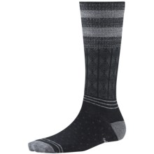 SmartWool Metallic Stripe Cable Crew Socks - Merino Wool, Lightweight (For Women) in Black - 2nds