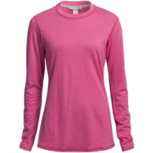 SmartWool Microweight Athleta Base Layer Top - Merino Wool, Crew Neck, Long Sleeve (For Women) in Peony - 2nds