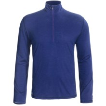 SmartWool Microweight Base Layer Top - Merino Wool, Zip Neck, Long Sleeve (For Men) in Royal Stripe - 2nds