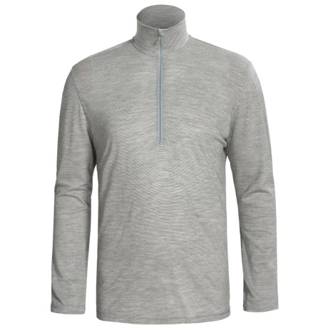 SmartWool Microweight Base Layer Top - Merino Wool, Zip Neck, Long Sleeve (For Men) in Silver Grey Heather