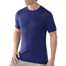 SmartWool Microweight Merino Wool T-Shirt - UPF 30, Short Sleeve (For Men) in Royal Stripe - Closeouts