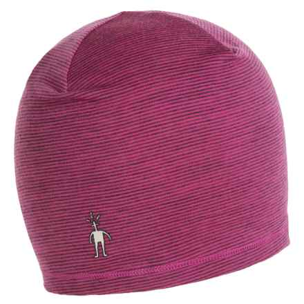 SmartWool Microweight Pattern Beanie Hat - Merino Wool, UPF 25+ (For Men and Women) in Bright Pink - Closeouts