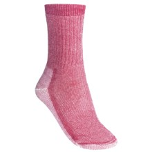 SmartWool Mid Crew Hiking Socks - Merino Wool (For Women) in Peony - 2nds