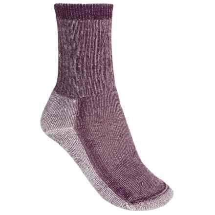 SmartWool Mid Hiking Socks - Merino Wool, Crew (For Women) in Dark Cassis - 2nds
