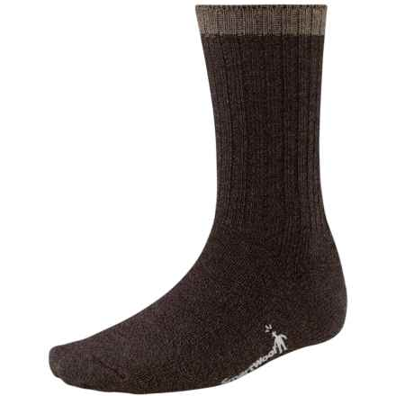 SmartWool Midweight Adventurer Socks - Merino Wool, Crew (For Men) in Chestnut/Black Marl - Closeouts