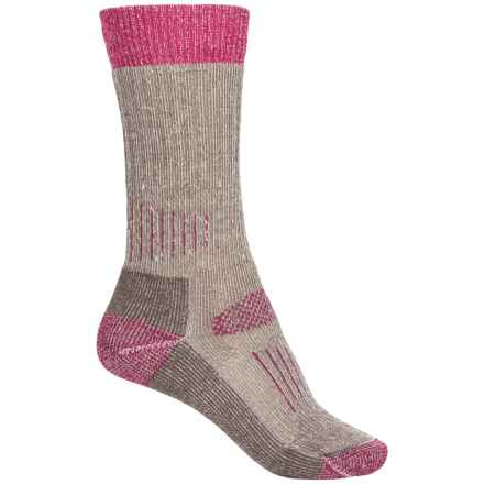 SmartWool Midweight Hunting Socks - Merino Wool, Crew (For Women) in Taupe/Berry - Closeouts