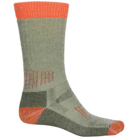 SmartWool Midweight Hunting Socks - Merino Wool, Mid Calf (For Men and Women) in Olive/Orange - Closeouts
