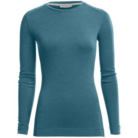 SmartWool Midweight NTS Base Layer Top - Merino Wool, Crew Neck, Long Sleeve (For Women) in Aegean Heather