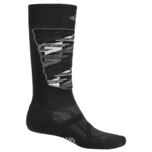SmartWool Midweight Ski Socks - Merino Wool, Over the Calf (For Men and Women) in Black/White - 2nds