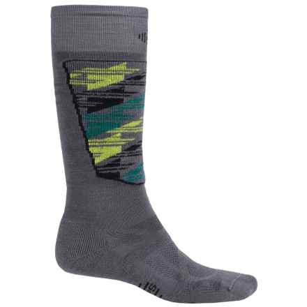 SmartWool Midweight Ski Socks - Merino Wool, Over the Calf (For Men and Women) in Graphite - 2nds