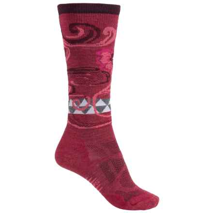 SmartWool Midweight Ski Socks - Merino Wool, Over the Calf (For Women) in Persian Red - Closeouts