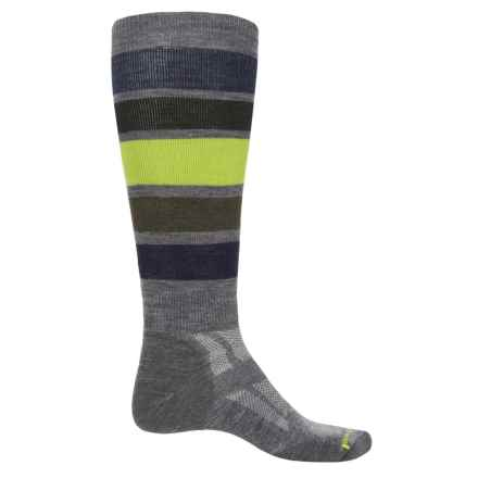 SmartWool Midweight Snowboard Socks- Merino Wool, Over the Calf (For Men) in Medium Gray - Closeouts