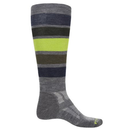 SmartWool Midweight Snowboard Socks- Merino Wool, Over the Calf (For Men) in Medium Gray