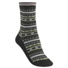 SmartWool Mini Fairisle Casual Socks - Merino Wool, Lightweight (For Women) in Chocolate Heather - 2nds