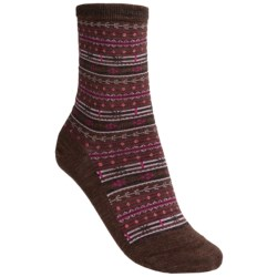 SmartWool Mini Fairisle Casual Socks - Merino Wool, Lightweight (For Women) in Espresso Heather