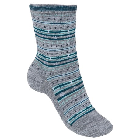 SmartWool Mini Fairisle Casual Socks - Merino Wool, Lightweight (For Women) in Light Gray Heather