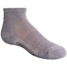 SmartWool Mini Hiking Socks - Merino Wool, Quarter-Crew, Ultralight (For Kids) in Grey - 2nds