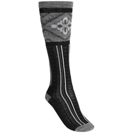 SmartWool Mini Marg Socks - Merino Wool, Over-the-Calf (For Women) in Black