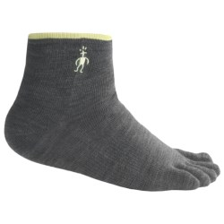 SmartWool Mini Toe Socks - Merino Wool, Quarter Crew (For Men and Women) in Black