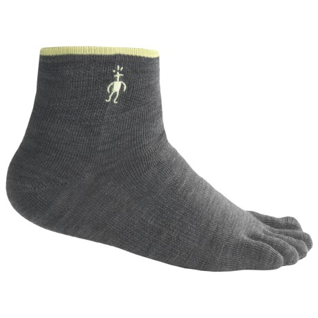 SmartWool Mini Toe Socks - Merino Wool, Quarter Crew (For Men and Women) in Oatmeal