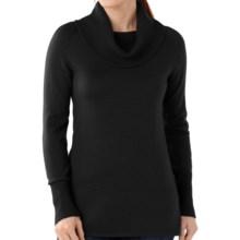 SmartWool Minturn Sweater - Merino Wool, Drape Neck (For Women) in Black - Closeouts