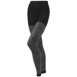 SmartWool Mirrored Footless II Tights - Merino Wool (For Women) in Black