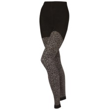 SmartWool Mirrored Footless II Tights - Merino Wool (For Women) in Chestnut Heather - 2nds