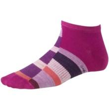 SmartWool Monolith Socks - Merino Wool, Ankle (For Women) in Berry - 2nds