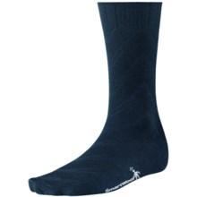 SmartWool Moss Chevron Socks - Merino Wool, Crew (For Men) in Deep Navy Heather - 2nds