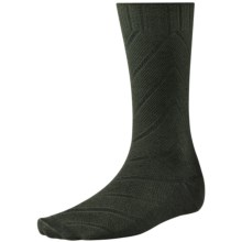 SmartWool Moss Chevron Socks - Merino Wool, Crew (For Men) in Forest - 2nds