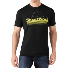 SmartWool Mountain Sun T-Shirt - Merino Wool, Slim Fit, Short Sleeve (For Men) in Black - Closeouts