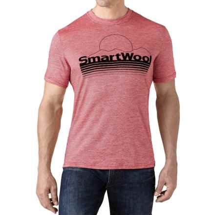 SmartWool Mountain Sun T-Shirt - Merino Wool, Slim Fit, Short Sleeve (For Men) in Bright Red - Closeouts