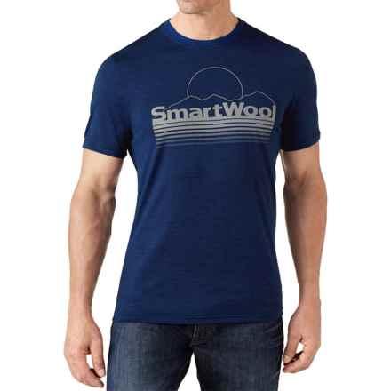 SmartWool Mountain Sun T-Shirt - Merino Wool, Slim Fit, Short Sleeve (For Men) in Deep Navy - Closeouts