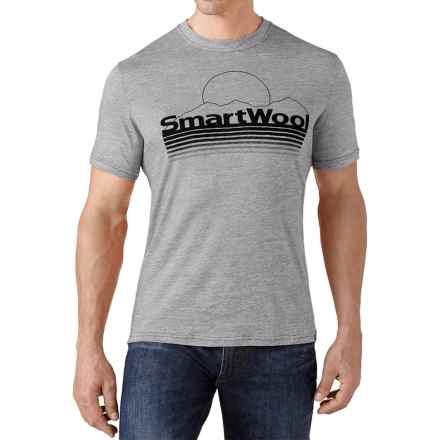 SmartWool Mountain Sun T-Shirt - Merino Wool, Slim Fit, Short Sleeve (For Men) in Light Gray - Closeouts