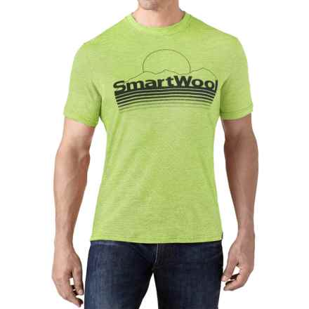 SmartWool Mountain Sun T-Shirt - Merino Wool, Slim Fit, Short Sleeve (For Men) in Smartwool Green - Closeouts