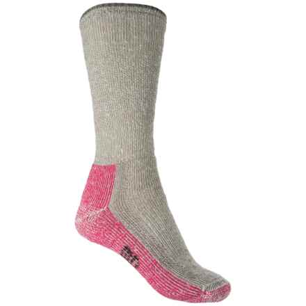 SmartWool Mountaineering Extra Heavy Socks - Merino Wool, Crew (For Women) in Taupe/Bright Pink - 2nds