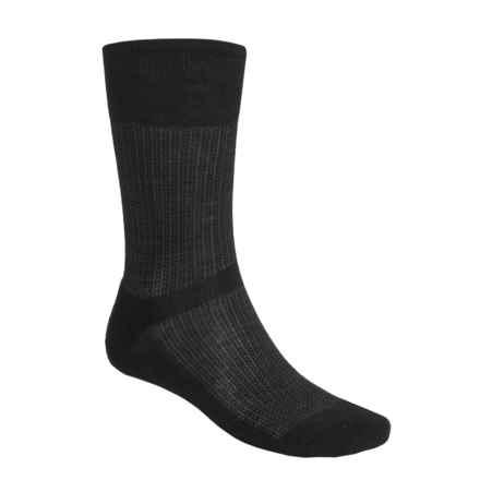 SmartWool Nailhead Grid Casual Socks - Merino Wool, Crew (For Men) in Black - 2nds