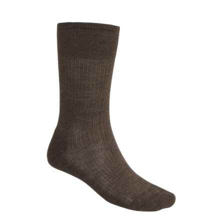 SmartWool Nailhead Grid Casual Socks - Merino Wool, Crew (For Men) in Chestnut Heather - 2nds