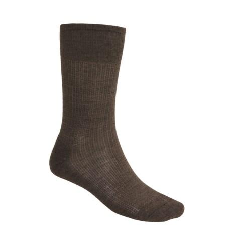 SmartWool Nailhead Grid Casual Socks - Merino Wool, Crew (For Men) in Chestnut Heather