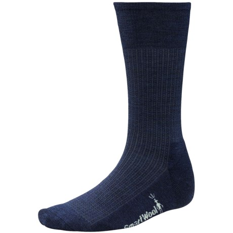 SmartWool Nailhead Grid Casual Socks - Merino Wool (For Men) in Deep Navy Heather