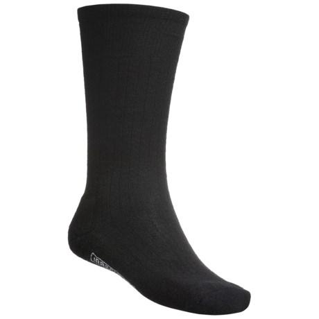 SmartWool New Classic Rib Casual Socks - Crew (For Men) in Black