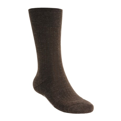 SmartWool New Classic Rib Casual Socks - Crew (For Men) in Chestnut