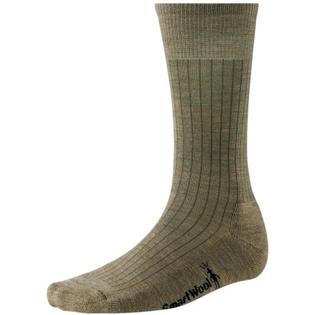 SmartWool New Classic Rib Casual Socks - Crew (For Men) in Chino Heather
