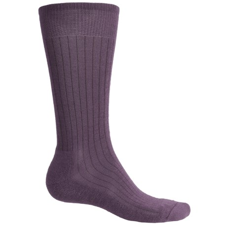 SmartWool New Classic Rib Casual Socks - Crew (For Men) in Desert Purple Heather