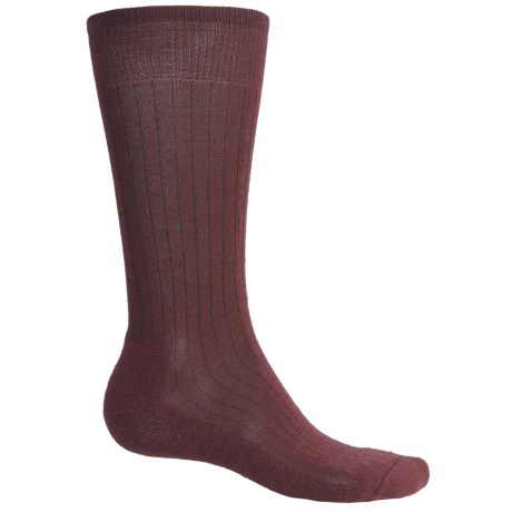 SmartWool New Classic Rib Casual Socks - Crew (For Men) in Medium Grey