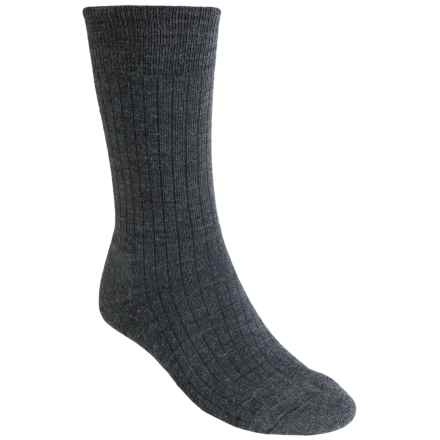 SmartWool New Classic Rib Casual Socks - Crew (For Men) in Medium Grey - 2nds