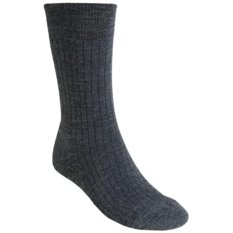 SmartWool New Classic Rib Casual Socks - Crew (For Men) in Medium Grey